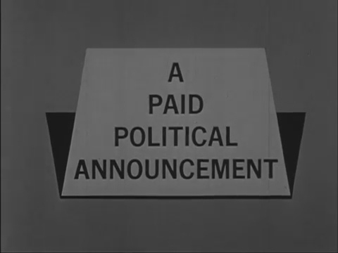 """a paid political announcement"""