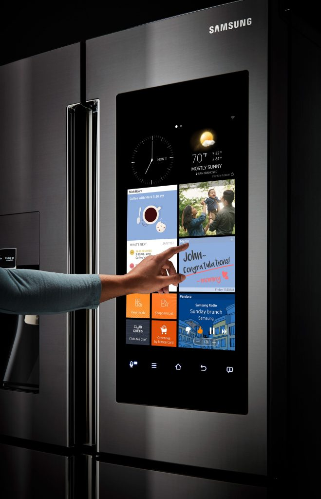 Samsung refrigerator with video screen